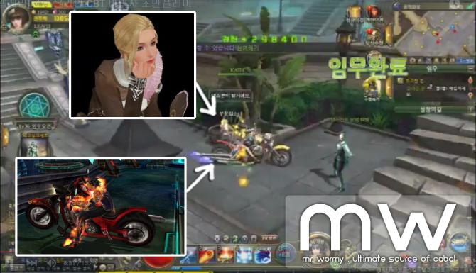 CABAL Webgame - NPC Chloe & Red Flare Bike