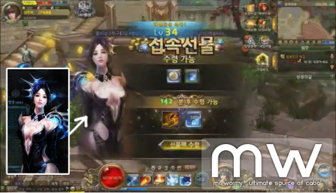 CABAL Webgame - Level up screen
