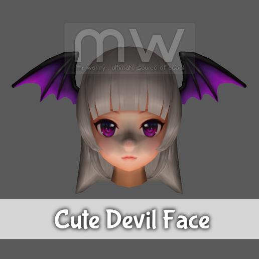 Cute Devil Face - Female Only