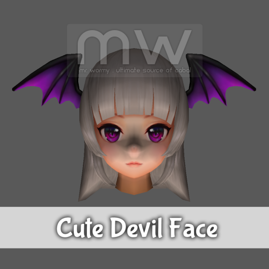 Cute Devil Face - Female Only